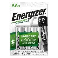 Piles Piles Rechargeables Energizer Power Plus AA/LR6 2000 mAh. pack de 4