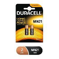 Piles Piles alcalines Duracell spéciales MN21 12V. lot de 2 ( A23 / 23A / V23GA / LRV08 / 8LR932 )
