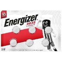 Piles Piles bouton Energizer Lithium 2032. pack de6