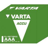Piles VARTA Pack de 10 batteries rechargeables Accus AAA 800 mAh 1.2V Ni-Mh