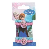 Pince - Barrette - Chouchou - Elastique Elastiques bleus et roses Elsa Reine des Neiges
