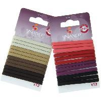 Pince - Barrette - Chouchou - Elastique Lot de 12 Elastiques a cheveux Plats - Multicolores