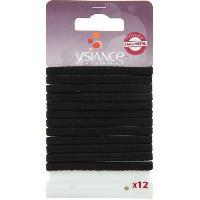 Pince - Barrette - Chouchou - Elastique Lot de 12 Elastiques a cheveux Plats GL - Noir