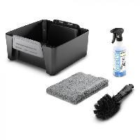 Piscine - Entretien Et Mesure Kit velo - Accessoire associe au nettoyeur mobile OC3 - Chiffon microfibre. une brosse universelle et un detergent velo