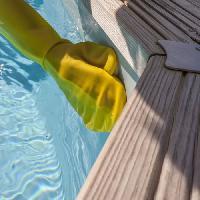 Piscine - Entretien Et Mesure SPOOL Gant avec éponge pour le nettoyage
