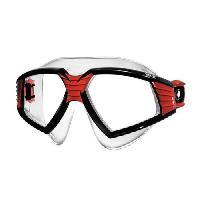 Piscine - Plongee - Chasse Sous-marine SEAC Lunettes et masque de natation Sonic - Silicone - Adulte - Noir et rouge
