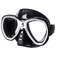 Piscine - Plongee - Chasse Sous-marine SEAC Masque de Plongée Elba - Adulte - Noir et blanc