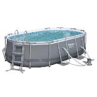 Piscine BESTWAY Kit Piscine Power Steel Frame Pools ovale 424x250x100 cm