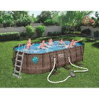 Piscine Complete - Kit Piscine BESTWAY Piscine ovale Frame Pool Swim Vista - 549 x 274 x 122 cm - Tresse
