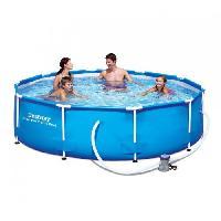Piscine Complete - Kit Piscine BESTWAY Piscine ronde Steel Pro Frame Pool - 305x76cm - Bleu