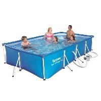 Piscine Complete - Kit Piscine BESTWAY Splash Frame Pool Piscine rectangulaire tubulaire 4 x 2.11 x 0.81 m