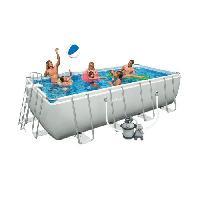 Piscine Complete - Kit Piscine INTEX Ultra Frame Kit piscine rectangulaire tubulaire 4.57x2.74x1.22 m