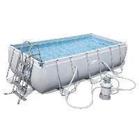 Piscine Complete - Kit Piscine Kit Piscine Power Steel Frame Pools rectangulaire 404x201x100 cm