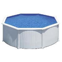 Piscine Complete - Kit Piscine Kit piscine hors-sol ronde en acier - Wet D3.50x1.20 m - Liner bleu