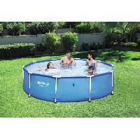 Piscine Complete - Kit Piscine Piscine ronde Steel Pro Frame Pools - 305x305x76 cm - Bleu