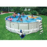 Piscine Complete - Kit Piscine Ultra Frame Pool Set Piscine ronde tubulaire 4.88 x 1.22 m