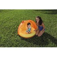 Piscine De Jeux - Piscine Gonflable - Pataugeoire Piscinette et couverture UV Careful Orange - 97 x 107 x 74 cm