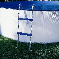 Piscine Echelle pour piscine hors-sol - Argente et bleu