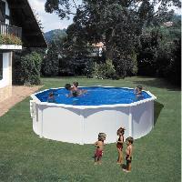 Piscine GRE Kit Piscine hors sol en acier - O 3 m - Blanc
