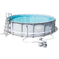 Piscine Kit Piscine tubulaire ronde Power Steel Frame Pool avec filtre a sable - 4.88x1.22m