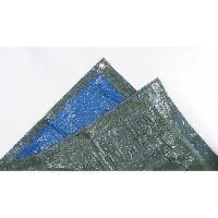 Piscine TECHIT 890600 Bache legere speciale stere de bois 68g-m2 - 1.5 x 6m - Bleu-Vert Tech-it