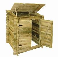 Piscine UBBINK Coffre de filtration en bois pour piscine