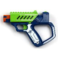 Pistolet A Boule - A Bille (puissance Inferieure A 0,07 Joule) - A Flechette En Mousse - Ventouse - Plastique LAZER M.A.D. - First Ops - Bleu et Vert