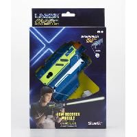 Pistolet A Boule - A Bille (puissance Inferieure A 0,07 Joule) - A Flechette En Mousse - Ventouse - Plastique LAZER M.A.D. - Super Blaster Kit - Bleu et Vert