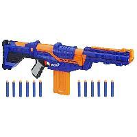 Pistolet A Boule - A Bille (puissance Inferieure A 0,07 Joule) - A Flechette En Mousse - Ventouse - Plastique NERF ELITE - Delta Trooper + 12 Flechettes