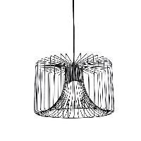 Plafonnier EDELMAN Salomo Lampe suspendue - Corde - Noir - H125 x D35 cm