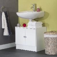 Plan Vasque - Meuble Sous Vasque - Meuble Vasque Integree - Plan De Toilette GALET Meuble sous lavabo 60cm blanc 2 portes