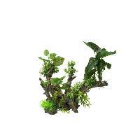 Plante D'aquarium - Vivarium - Terrarium - Decoration Vegetale - Substrat - Racine - Bois AQUA DELLA Decoration florale pour aquarium 33.5 x 16 x 27.5cm - XL