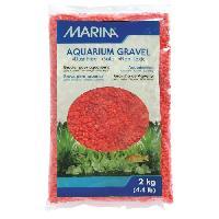 Plante D'aquarium - Vivarium - Terrarium - Decoration Vegetale - Substrat - Racine - Bois Gravier deco orange 2kg