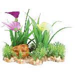 Plante plastique sur lit de gravier - 13cm