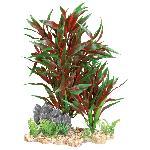 Plante plastique sur lit de gravier - 28cm