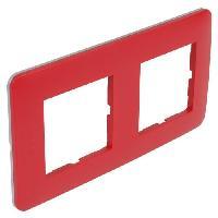 Plaque -  Cadre De Finition Pour Prise - Interrupteur CASUAL Plaque de finition double 742102