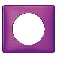 Plaque -  Cadre De Finition Pour Prise - Interrupteur Celiane Plaque de finition 1 poste violet irise