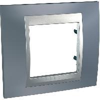 Plaque -  Cadre De Finition Pour Prise - Interrupteur Plaque 1 poste Unicatop en aluminium lisere gris metal