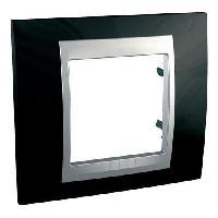 Plaque -  Cadre De Finition Pour Prise - Interrupteur Plaque 1 poste Unicatop en aluminium lisere laque noir