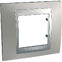 Plaque -  Cadre De Finition Pour Prise - Interrupteur Plaque 1 poste Unicatop en aluminium lisere nickel mat