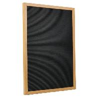Plaque De Porte - Lettre Decorative Lettre board retro - 150 lettres - Cadre Mdf - 30 x 45 cm - Marron et Bois
