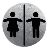 Plaque De Porte - Lettre Decorative Plaque metallique Dames et Monsieurs