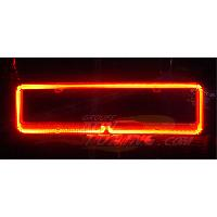Plaques Immatriculation Neon contour plaque immatriculation - Rouge - NA15RD - 12V - 666-CaL