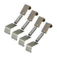 Plaques Immatriculation Pinces compatible avec plaque immatriculation 4 pieces