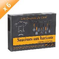 Plat A Base De Viande Saucisses Haricots Cuisines A La Tomate 380g -x6-