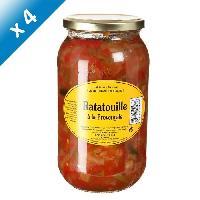 Plat De Legumes - Feculents 4 bocaux de Ratatouille a la Provencale 980g