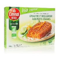 Plat De Legumes - Feculents CEREALES BIO Galettes Epeautre et Boulghour aux petits legumes 200 g