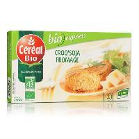 Plat De Legumes - Feculents Croq'Soja a base de tofu et de fromage Bio - 200 g