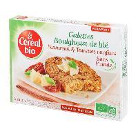 Plat De Legumes - Feculents Galettes de boulghour. parmesan et tomates confites Bio - 200 g