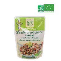 Plat De Legumes - Feculents JARDIN BIO Lentilles et Pois Chiche Sans Gluten - 250 g